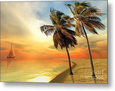 Palm Island Metal Print by Corey Ford