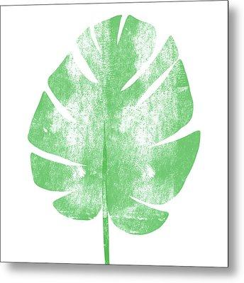 Palm Leaf- Art By Linda Woods Metal Print