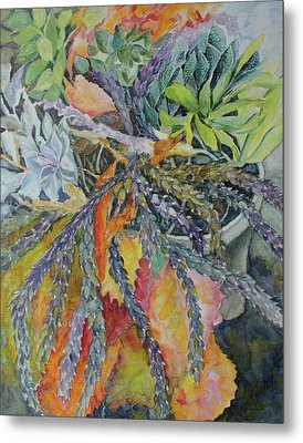 Metal Print featuring the painting Palm Springs Cacti Garden by Joanne Smoley
