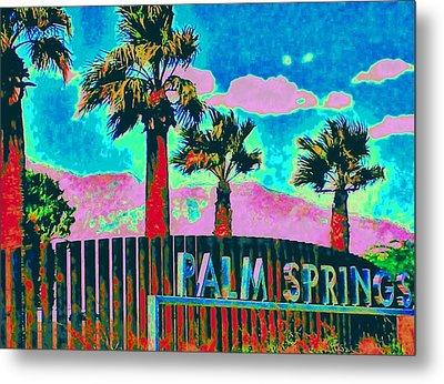 Palm Springs Gateway Three Metal Print by Randall Weidner