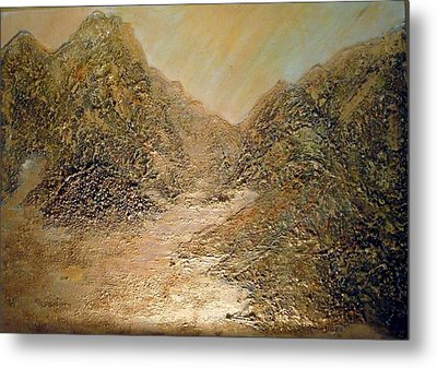 Palm Springs Mountains Metal Print