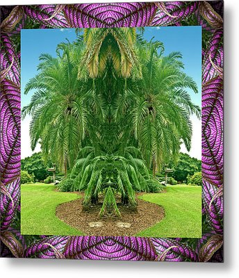 Palm Tree Ally Metal Print by Bell And Todd