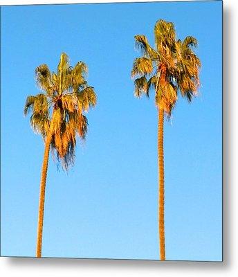 #palm #trees At Sunset. #california Metal Print