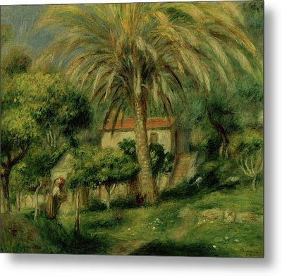 Palm Trees Metal Print by Pierre Auguste Renoir