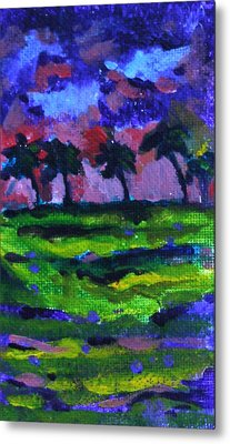 Palm Trees Redux Metal Print