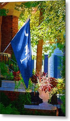 Palmetto Flag Metal Print