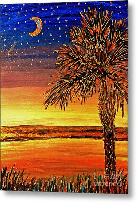 Palmetto Sunset  Metal Print by Patricia L Davidson