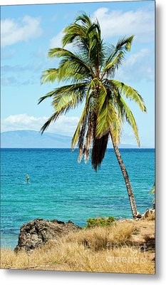 Metal Print featuring the photograph Palms On Hawaiian Beach 12 by Micah May