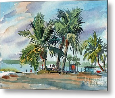 Palms On Sanibel Metal Print by Donald Maier