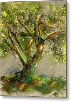 Metal Print featuring the painting Palo Verde by Marilyn Barton