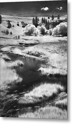 Palouse Back Roads II Metal Print by Jon Glaser