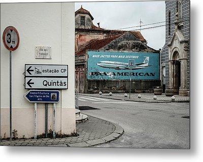Pan American Vintage Ad Iv Metal Print by Marco Oliveira
