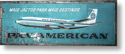 Pan American Vintage Ad V Metal Print by Marco Oliveira