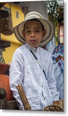 Panamanian Boy On Float In Parade Metal Print