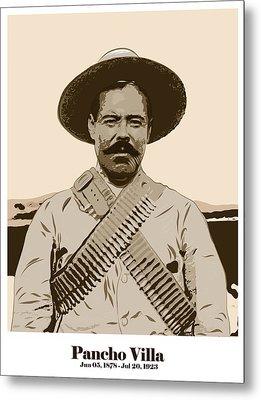 Metal Print featuring the digital art Pancho Villa by Antonio Romero