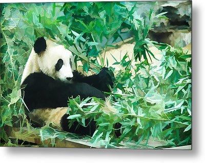 Panda 1 Metal Print by Lanjee Chee