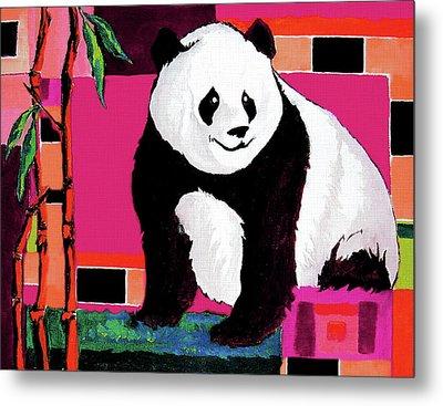 Panda Abstrack Color Vision  Metal Print by Alban Dizdari