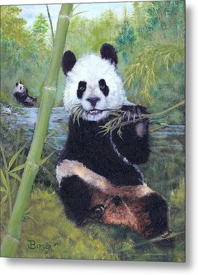 Panda Buffet Metal Print