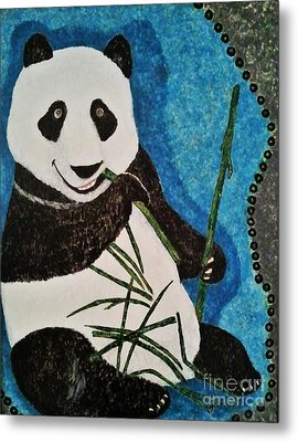 Metal Print featuring the painting Panda by Jasna Gopic