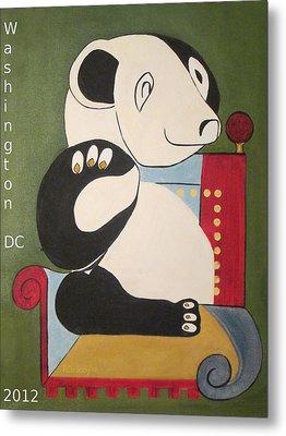 Panda Picasso Metal Print
