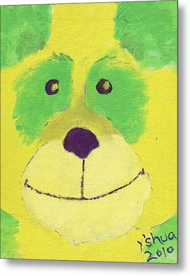 Metal Print featuring the painting Panda by Yshua The Painter