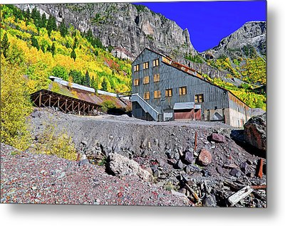 Metal Print featuring the photograph Pandora Mill - Telluride - Colorful Colorado by Jason Politte