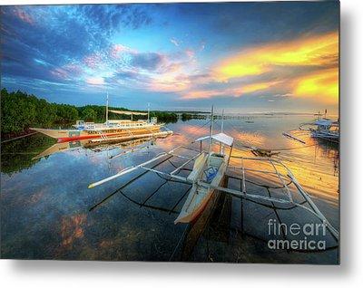 Panglao Port Sunset 9.0 Metal Print by Yhun Suarez