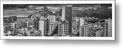 Panorama Leblon - Rio De Janeiro Metal Print
