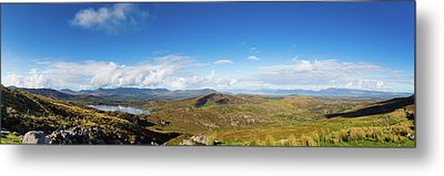 Panorama Of Ballycullane And Lough Acoose In Ireland Metal Print by Semmick Photo