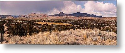 Panorama Of Cochiti Lake Golf Club - Cochiti Pueblo Jemez Mountains New Mexico Metal Print