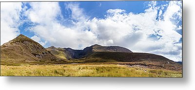 Panorama Of Macgillycuddy's Reeks In County Kerry Metal Print by Semmick Photo