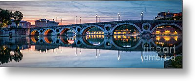 Metal Print featuring the photograph Panorama Of Pont Neuf In Toulouse by Elena Elisseeva