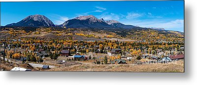 Panorama Of Silverthorne In The Fall - White River National Forest - Rocky Mountains - Colorado Metal Print by Silvio Ligutti