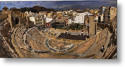 Panorama Of The Roman Forum In Cartagena Spain Metal Print by David Smith
