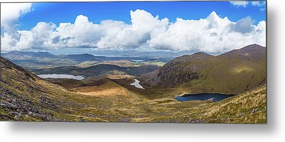 Metal Print featuring the photograph Panorama Of Valleys And Mountains In County Kerry On A Summer Da by Semmick Photo