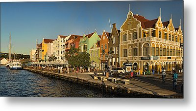 Panorama Of Willemstad Waterfront Curacao Metal Print