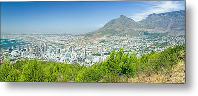 Panoramic View Of Cape Town And Table Metal Print