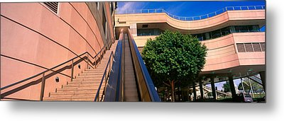 Panoramic View Of Escalator And Stairs Metal Print by Panoramic Images