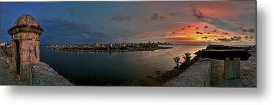 Panoramic View Of Havana From La Cabana. Cuba Metal Print by Juan Carlos Ferro Duque