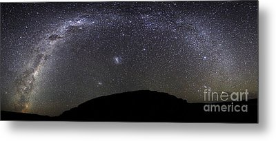 Panoramic View Of The Milky Way Metal Print by Luis Argerich