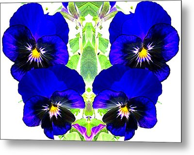 Pansy Pattern Metal Print by Marianne Dow