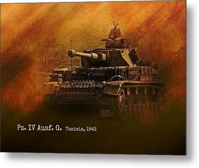 Metal Print featuring the digital art Panzer 4 Ausf G by John Wills