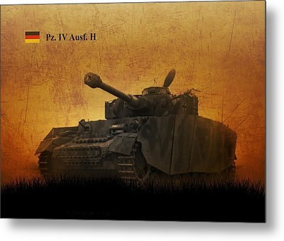 Metal Print featuring the digital art Panzer 4 Ausf H by John Wills