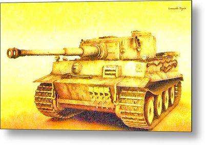 Panzer Vi Tiger - Pa Metal Print by Leonardo Digenio