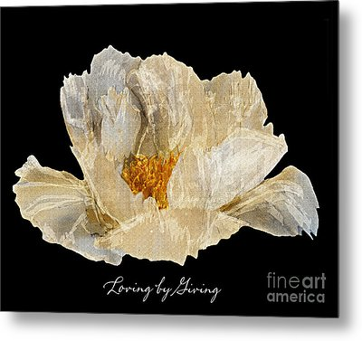 Metal Print featuring the photograph Paper Peony Loving By Giving by Diane E Berry