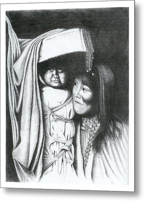 Papoose Metal Print by Lawrence Tripoli