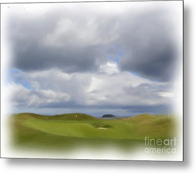 Metal Print featuring the painting Par 3 Ireland by Jan Daniels