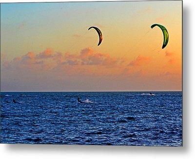 Para-surfing In Key West 003 Metal Print by George Bostian