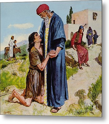 Parable Of The Prodigal Son Metal Print by Clive Uptton