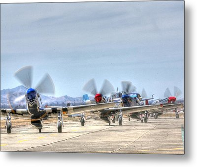 Parade Of Mustangs Metal Print